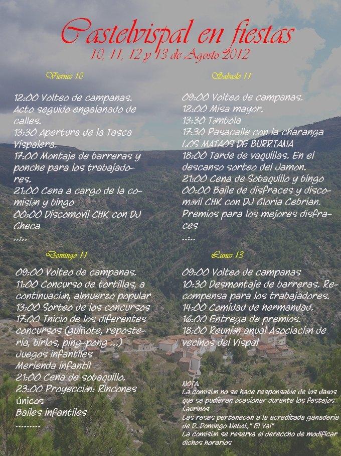 Fiestas de Castelvispal 2012