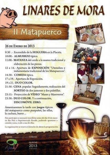 AJULI organiza el II Matapuerco el sábado 26 de Enero