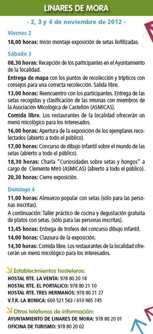 Programa Otoño micológico Linares