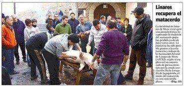Linares de Mora recupera la tradición del matacerdo popular
