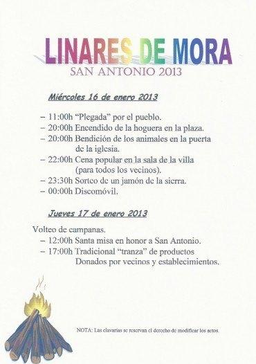 Programa de actos Fiesta de San Antonio 2013