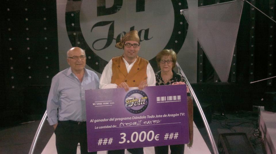 Jorge Peiró gana el primer premio en Dándolo Todo Jota