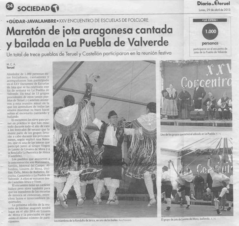 Maratón de jota aragonesa en La Puebla de Valverde
