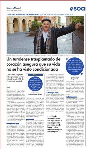 Testimonio desde Linares de Mora en el día nacional del trasplante