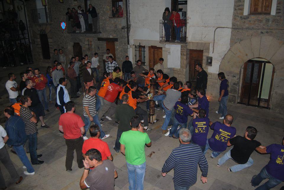 Emboladores de Linares durante las fiestas de 2010