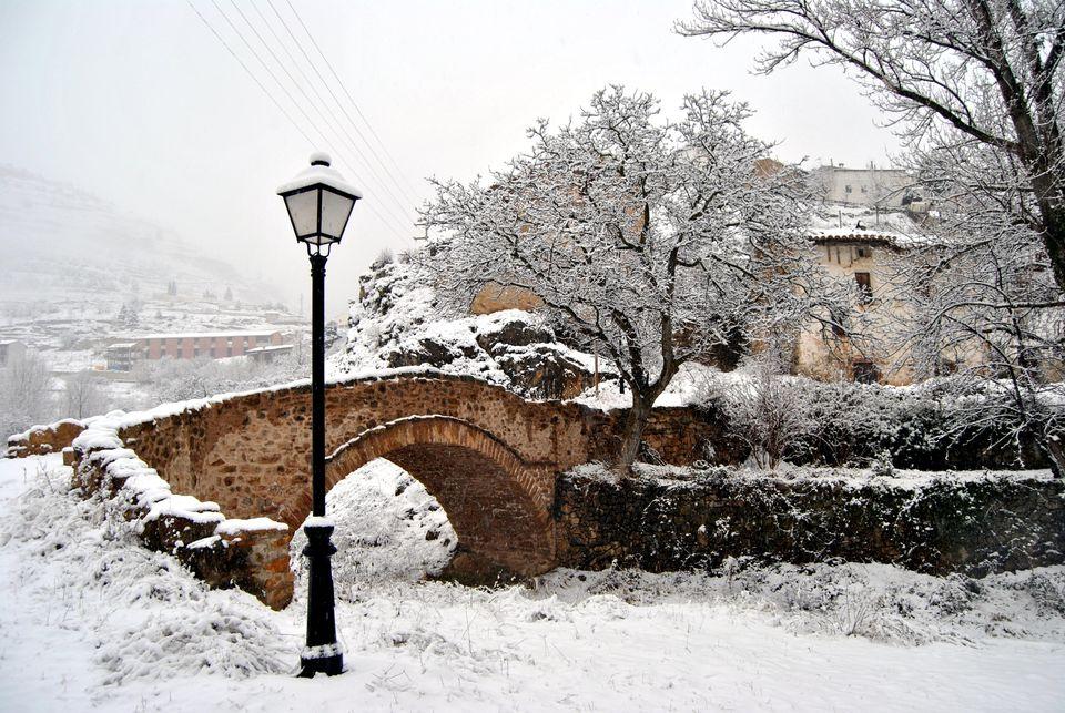 Puente del Loreto nevado