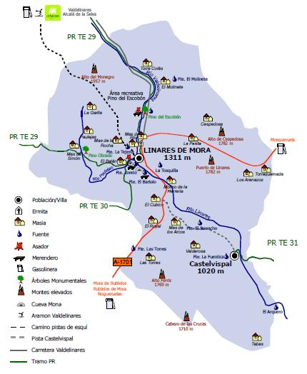 Termino municipal de Linares de Mora