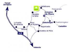 Ubicación de Linares de Mora