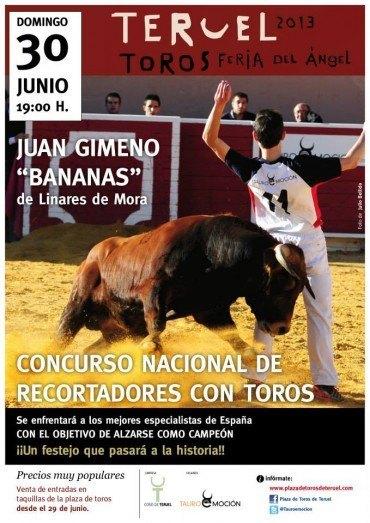 """""""Bananas"""" participará este domingo en el Concurso Nacional de Recortadores en Teruel"""