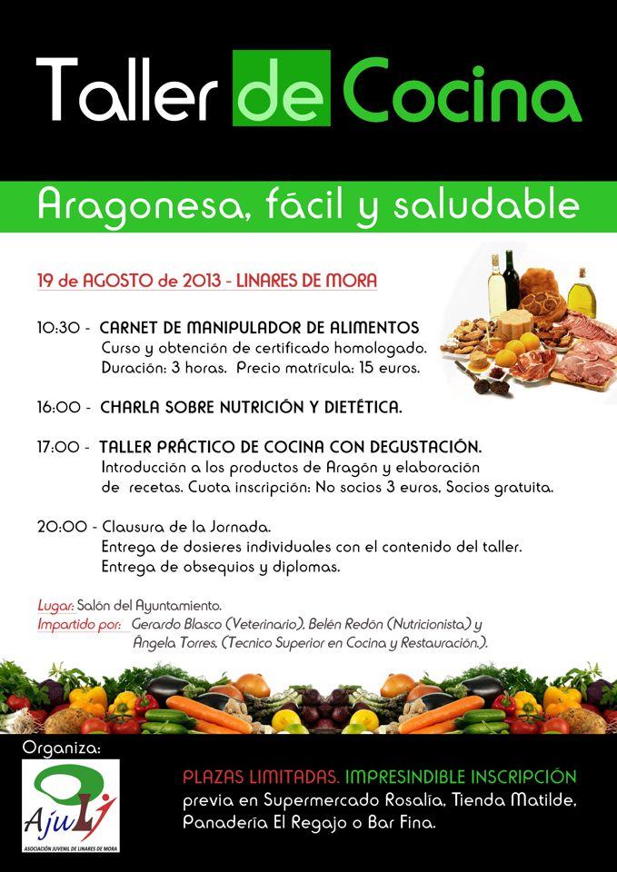 Linares de mora taller de cocina aragonesa f cil y for Taller de cocina teruel