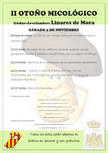 II Otoño Micológico Linares de Mora, el 2 de Noviembre