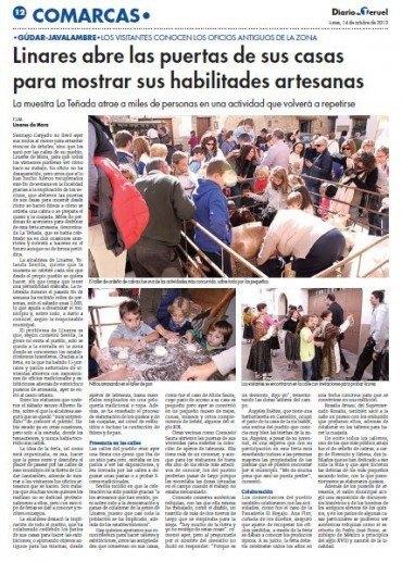 La Teñada en el Diario de Teruel y en Aragón TV