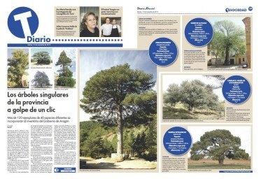 Los árboles singulares de la provincia a golpe de un clic
