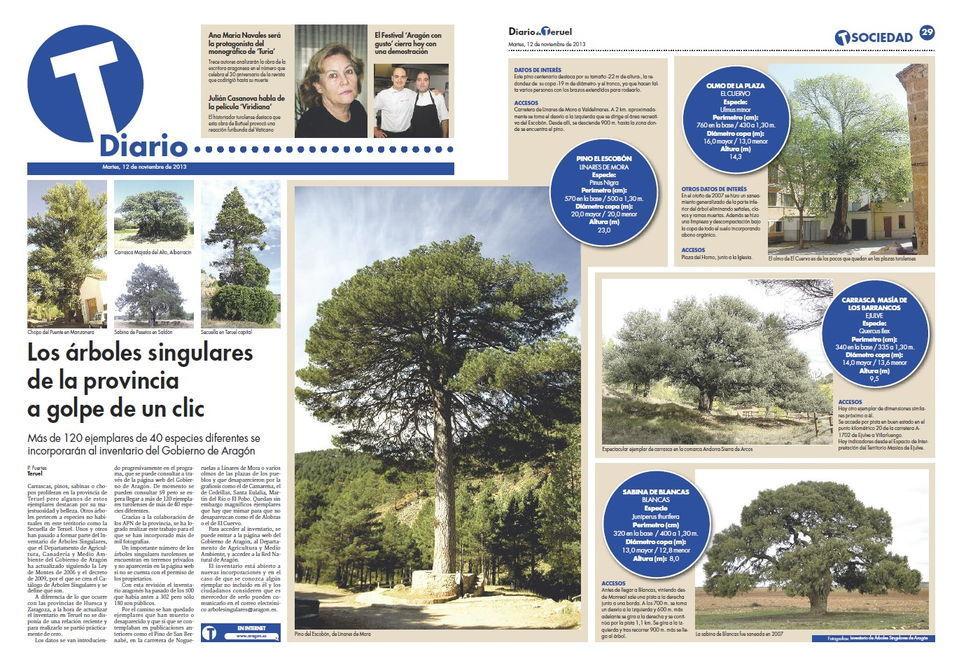 Árboles monumentales de Teruel