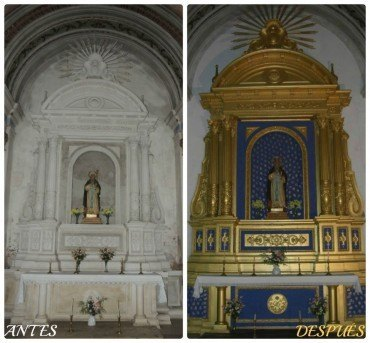 Restauración del altar de San Antonio Abad