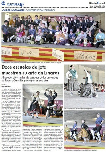 Doce escuelas de jota muestran su arte en Linares