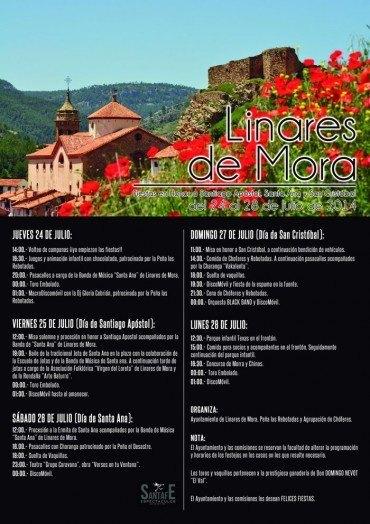 Fiestas Patronales 2014, en honor a Santiago Apóstol, Santa Ana y San Cristóbal