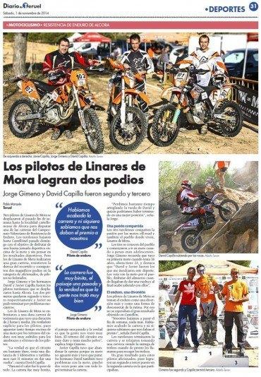 Los pilotos de Linares logran dos podios