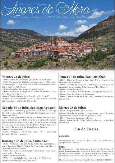 Fiestas Patronales 2015, en honor a Santiago Apóstol, Santa Ana y San Cristóbal