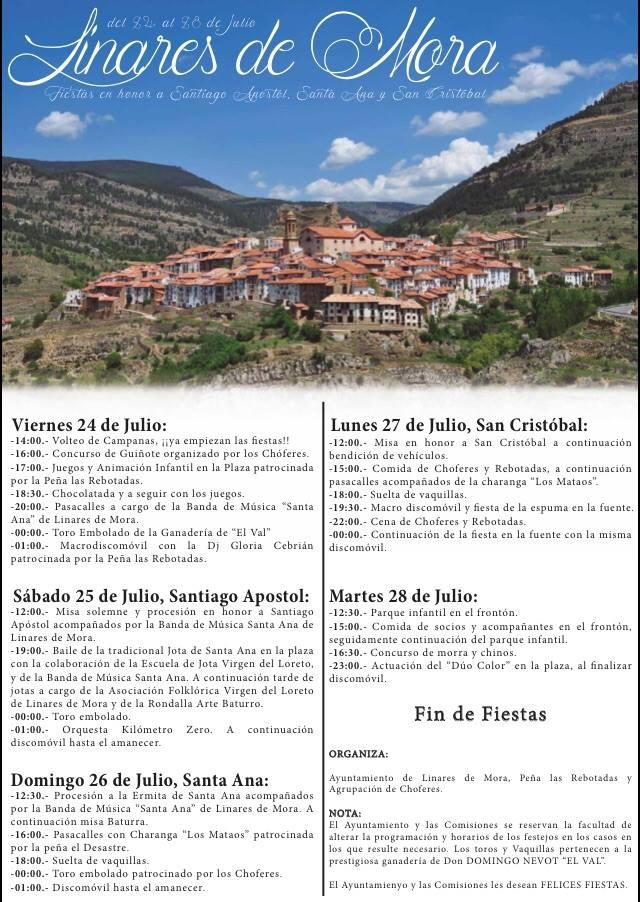 Fiestas patronales Linares de Mora 2015