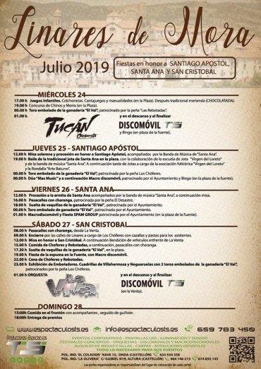 Fiestas patronales de Linares de Mora 2019